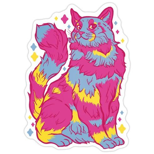 Pansexual Pride Cat Die Cut Sticker