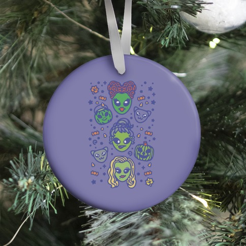 Witch Alien Sisters Parody Ornament