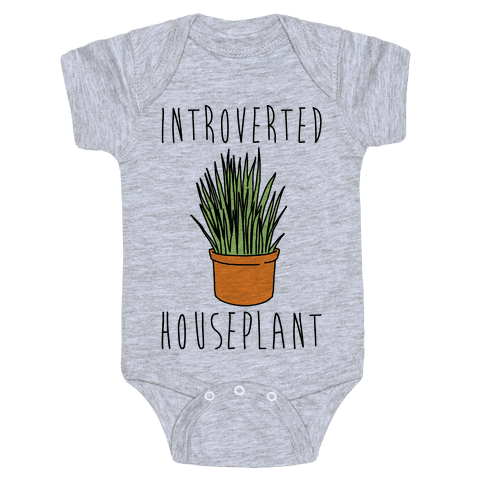 Introverted Houseplant  Baby Onesy
