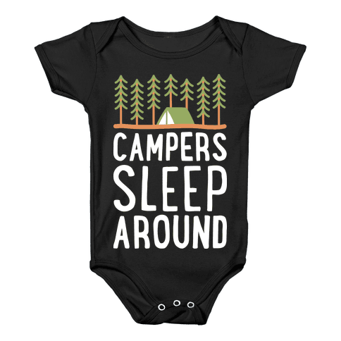 Campers Sleep Around Baby Onesy