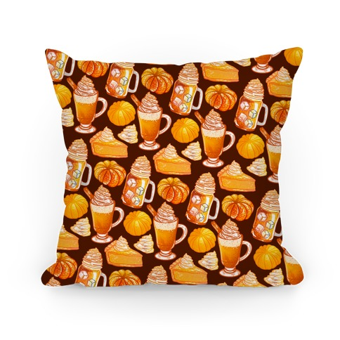 Pumpkin Everything Pattern Pillow