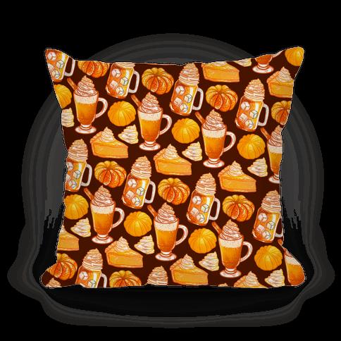 Pumpkin Everything Pattern Pillow