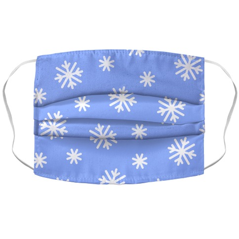 Snowflake Pattern Accordion Face Mask