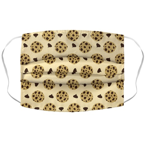Chocolate Chip Cookies Pattern Accordion Face Mask