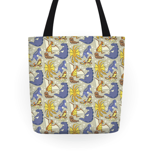 Godzilla and Friends Pattern Tote