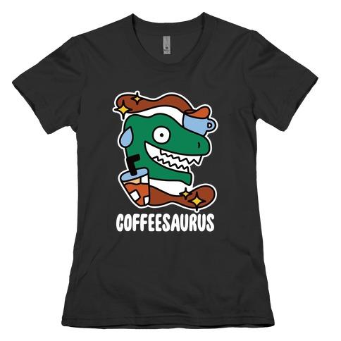 Coffeesaurus Womens T-Shirt