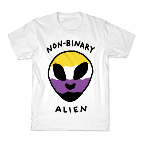Non Binary Alien Kids T-Shirt