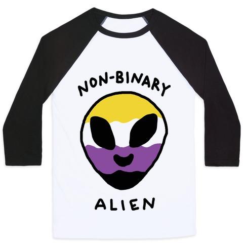 Non Binary Alien Baseball Tee