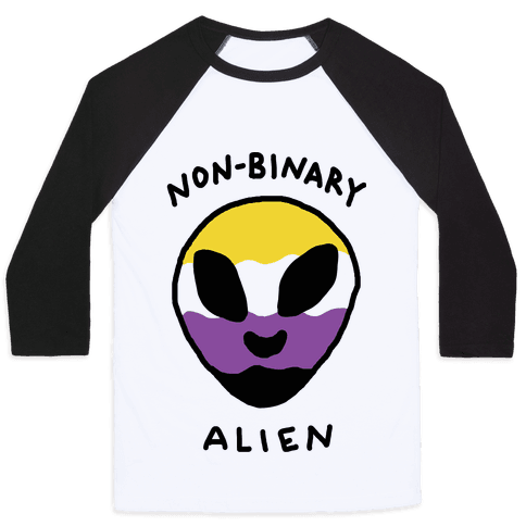 Non Binary Alien Baseball Tee
