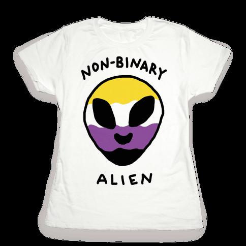 Non Binary Alien Womens T-Shirt