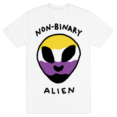 Non Binary Alien Mens T-Shirt