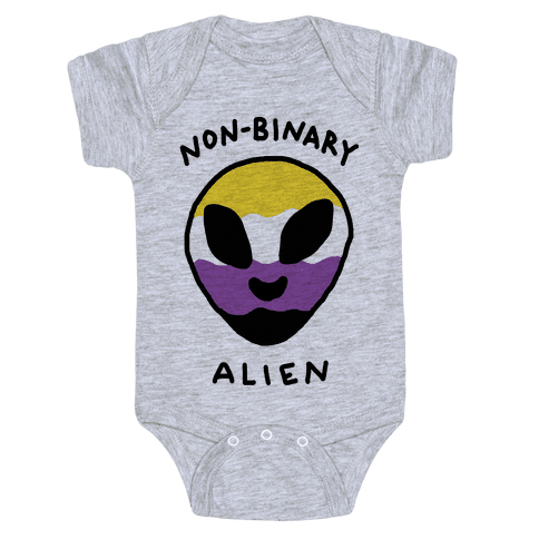 Non Binary Alien Baby Onesy