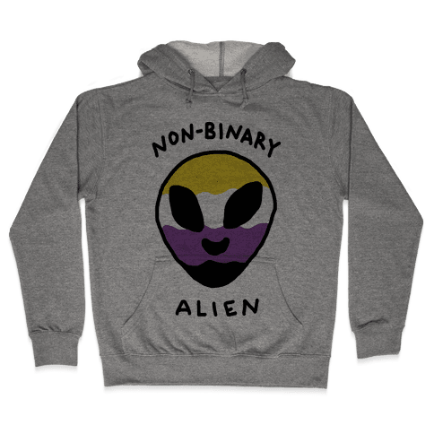 Non Binary Alien Hooded Sweatshirt