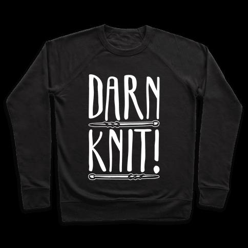 Darn Knit White Print Pullover