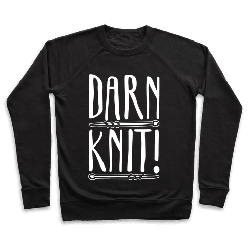 Darn Knit White Print Pullover