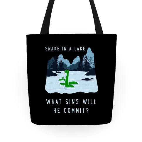 Snake In a Lake Tote