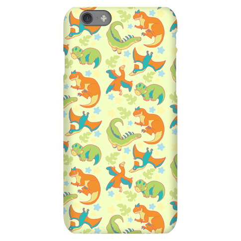 Funky Dinosaur Friends Pattern Phone Case