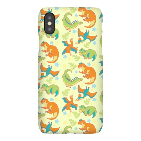 Funky Dinosaur Friends Pattern Phone Case