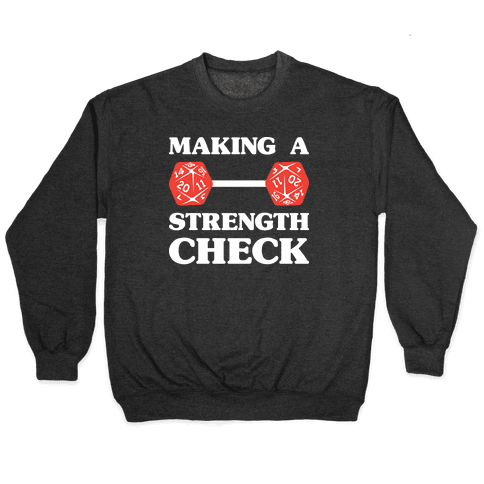 Making A Strength Check Pullover