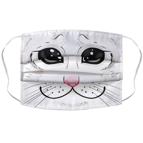 Crying Cat Face Face Mask Cover
