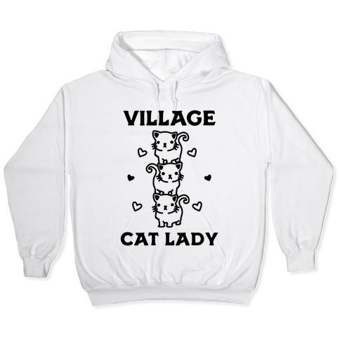 Village Cat Lady Hooded Sweatshirt