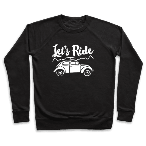 Let's Ride White Print Pullover