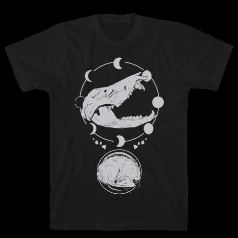 Occult Trash Possum White Print Mens/Unisex T-Shirt