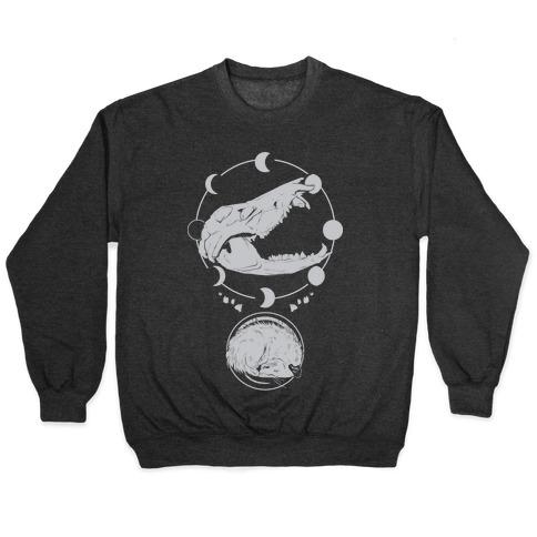 Occult Trash Possum White Print Pullover