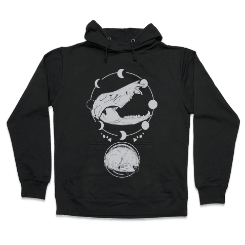 Occult Trash Possum White Print Hooded Sweatshirt