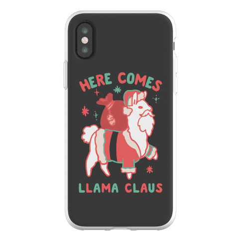Here Comes Llama Claus Phone Flexi-Case