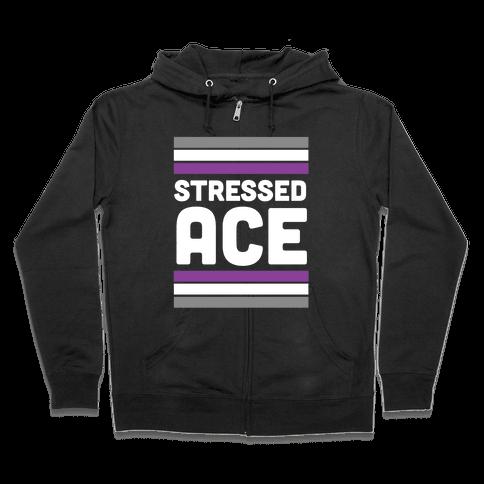 Stressed Ace Zip Hoodie