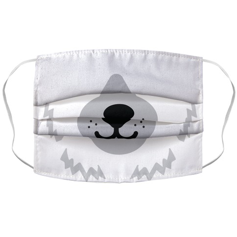 Polar Bear Snout Accordion Face Mask