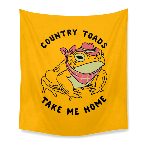 Country Toads Take Me Home Tapestry