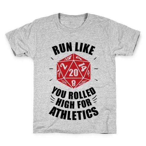 Run Like You Rolled High For Athletics Kids T-Shirt