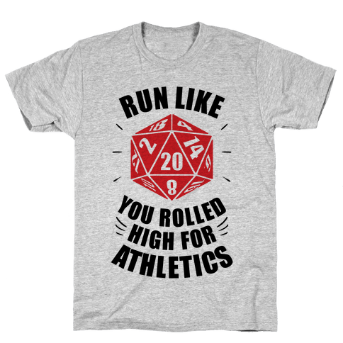 Run Like You Rolled High For Athletics Mens/Unisex T-Shirt