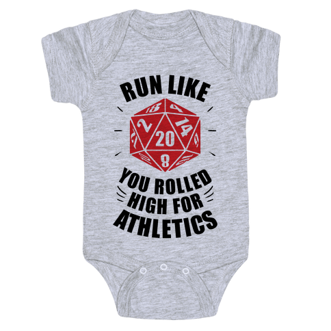 Run Like You Rolled High For Athletics Baby Onesy
