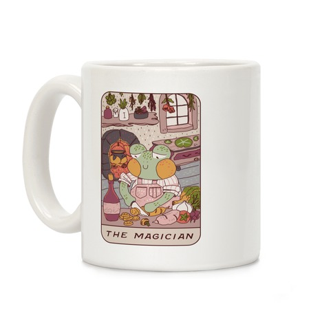 Cottagecore Magician Tarot Card Coffee Mug
