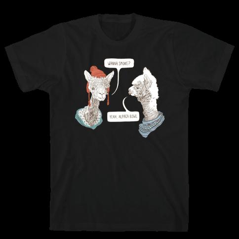 Alpaca Bowl Mens T-Shirt