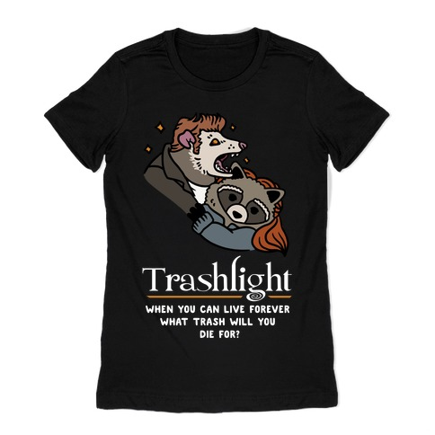 Trashlight Raccoon Opossum Parody Womens T-Shirt
