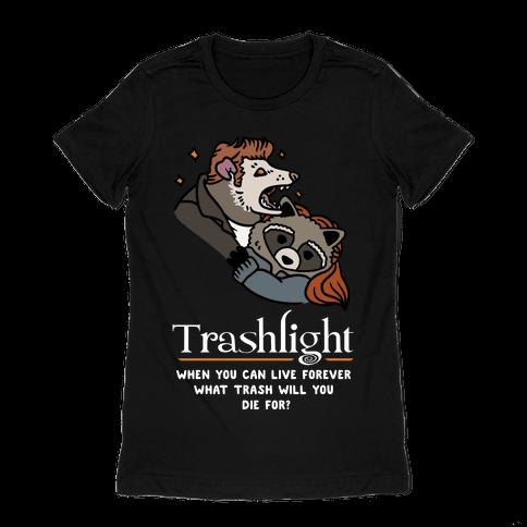 Trashlight Raccoon Opossum Parody Womens T-Shirt