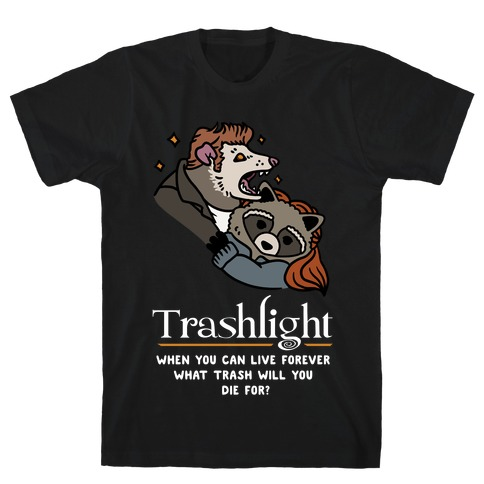 Trashlight Raccoon Opossum Parody T-Shirt