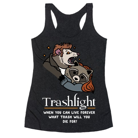 Trashlight Raccoon Opossum Parody Racerback Tank Top