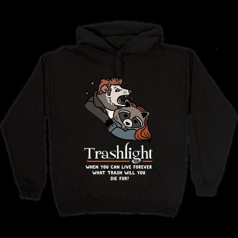 Trashlight Raccoon Opossum Parody Hooded Sweatshirt