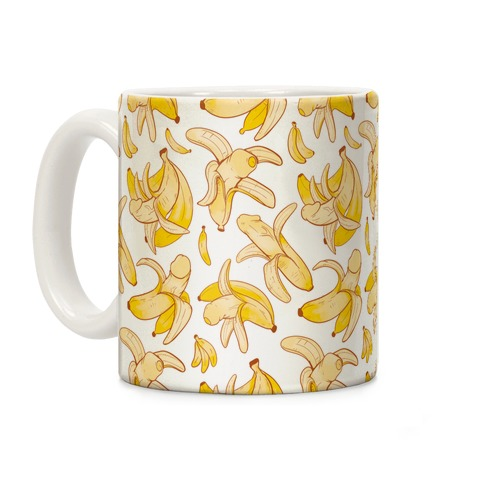 Banana penis pattern Coffee Mug