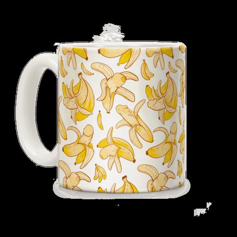 Banana penis pattern Coffee Mug