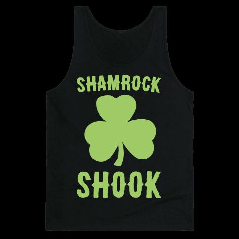 Shamrock Shook White Print Tank Top