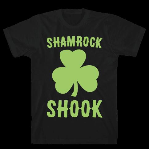 Shamrock Shook White Print Mens T-Shirt