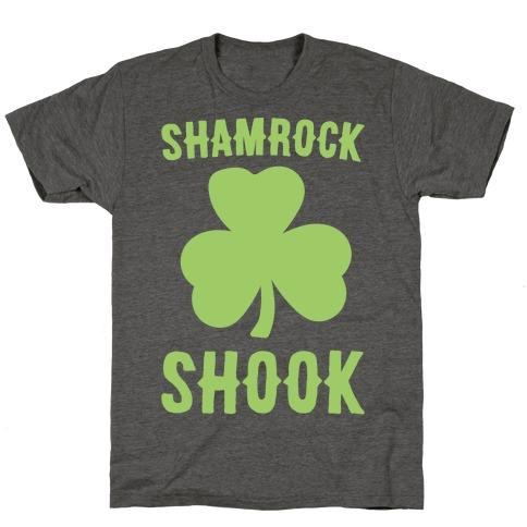 Shamrock Shook White Print T-Shirt