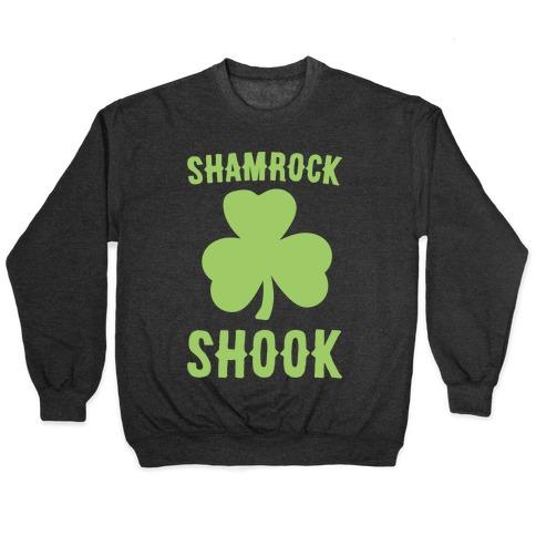 Shamrock Shook White Print Crewneck Sweatshirt   LookHUMAN