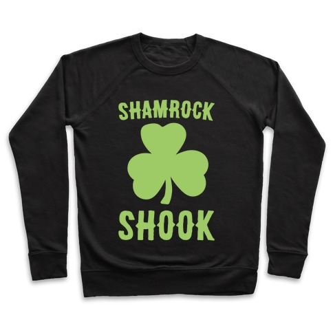 Shamrock Shook White Print Pullover